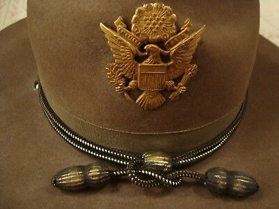 U.s. Army M1911 Stetson Campaign Hat - Officer Purchase 1938 In Tucson, Arizona