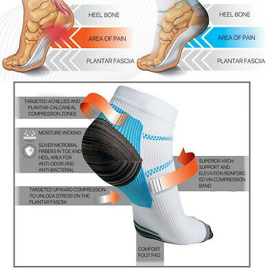 Plantar Fasciitis Foot Pain Relief Sleeves Heel Ankle Sox Compression Socks