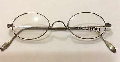 NOS VINTAGE HALSTON 178 EYEGLASSES,Italy Saddle Bridge 1980s Antique Gold