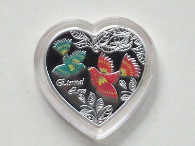 2013 Eternal Love Heart 20g Silver Colored Proof Cook Islands Coin