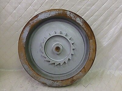 Wood Foundry Mold Cog Winch Drum Pattern Steampunk Industrial Vintage 19.""