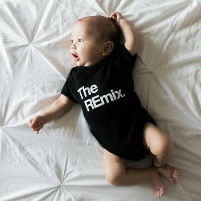 Unisex Infant Summer Short Sleeves Baby Romper with Fashion Letters Printing CO