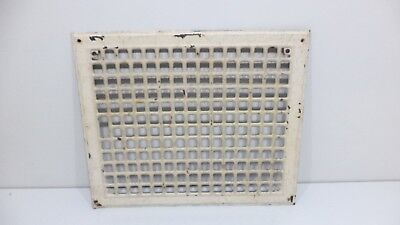 ANTIQUE HEAT GRATE FURNACE AIR WALL FLOOR COVER REGISTER VENT 17x14 ORNATE