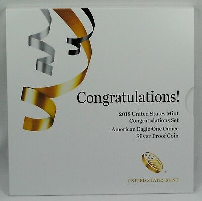 2018-W Silver Eagle Proof Congratulations Set in OGP Straight from US Mint 18RF