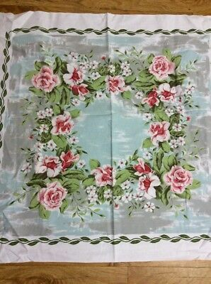 Vintage shabbie chic Pretty Roses Flowers  Super tablecloth