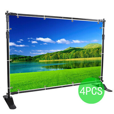 4PCS 10' Step and Repeat Backdrop Telescopic Banner Stand Wholesale Adjustable