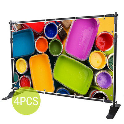 4Pcs Banner Stand Reuseable Portable Telescopic Show Step And Repeat Fantastic