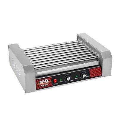 Commercial 24 Hot Dog 9 Roller Grilling Machine 1800Watts