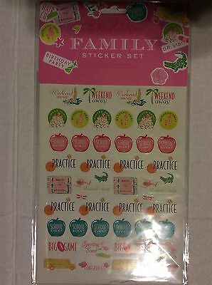 Lilly Pulitzer Family Sticker Set-NIP