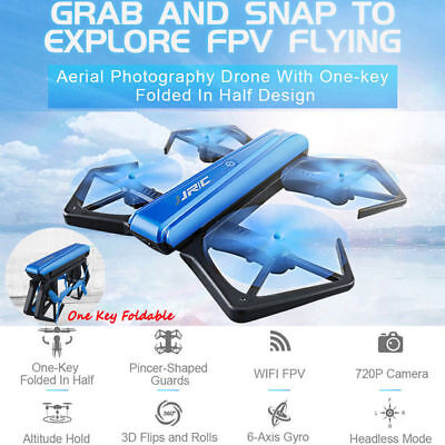 Foldable Selfie Drone 720P HD Camera 2.4G Wifi FPV RC Quadcopter Helicopter Toys