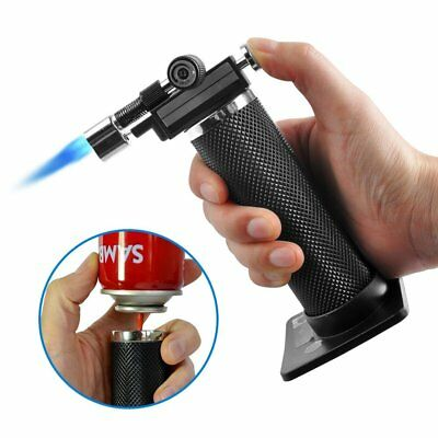 Windproof Refillable Micro Butane Gas Trip Torch Jet Flame Camping BBQ Lighter