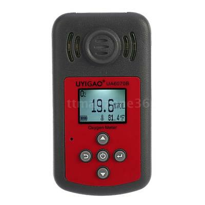 UYIGAO UA6070B Mini LCD Oxygen Concentration Meter O2 Gas Tester Detector W8Q9