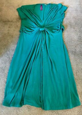 Seraphine Maternity Knot Dress Green Size 4