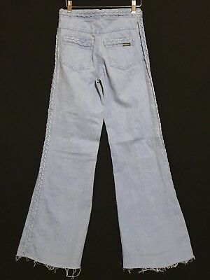 Vintage Bell Bottoms Hippie Boho Jeans Sz 26 Paradise Crown Colony Hong Kong