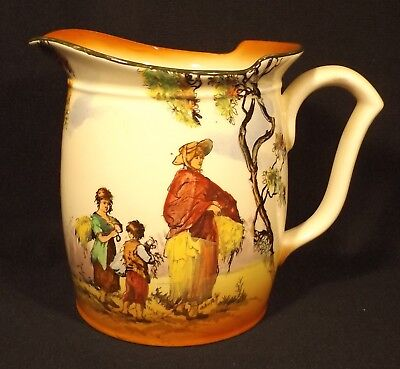 "C.1925 Royal Doulton England ""The Gleaners"" Jug Uncrazed Good Condition"