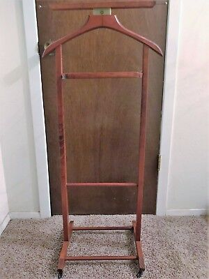 Vintage Brevattato Men's Wooden Butler And Valet Stand