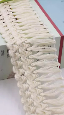 Cream 6.5cm Trim Tassel Fringe Cotton Lace Ribbon Price per 30cm DIY Craft