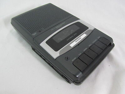 Radio Shack Portable Cassette Tape Recorder 14-1117-Tested 100% in box