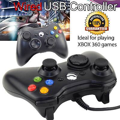 2018 USB Wired Xbox 360 Controller Game Pad For Microsoft Xbox 360 Windows PC UK