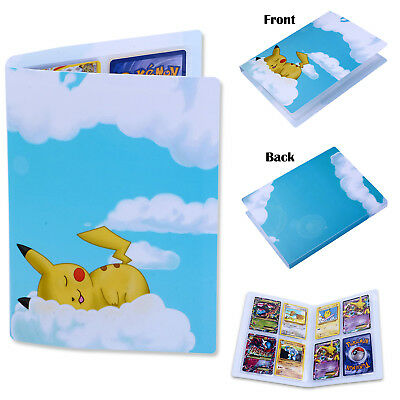 Cute Card Binder Pocket Album Book List Portfolio For Pokemon Pikachu Collector