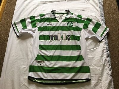Men's 2001-03 CELTIC Home Football Shirt UK Size XL