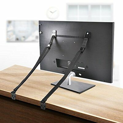 TV and Furniture Anti-Tip Straps (2Black Straps)/( 2safety locks)|All Flat Scree