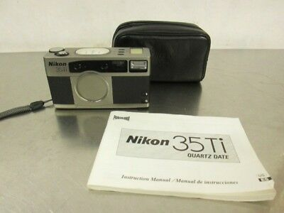Nikon 35Ti 35mm Point & Shoot Film Camera with Manual and Case,Color Black