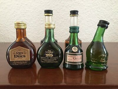 7x  Armagnac Miniaturen, Mini Bottles.