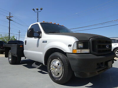 2004 Ford F-350 XL 04 FORD F-350 XL V10 6.8L 2WD AUTO DUALLY FLAT BED 8X8 1OWNR DRIVESGREAT NOISSUE