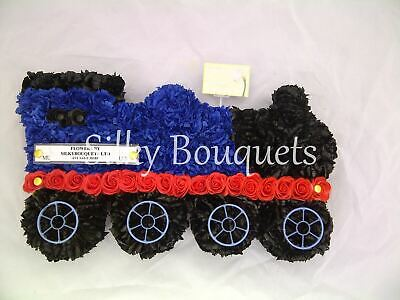 Christmas Train Artificial Silk Funeral Flower Tribute Wreath Memorial Son Baby