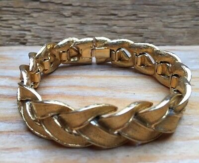 Vintage Chunky Gold Link Bracelet/Chain/Jointed/Retro/1960's/70's/Metal