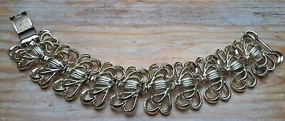 Vintage Chunky Gold Link Bracelet/Chain/Signed/Retro/1960's/70's/Metal