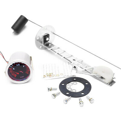 "2"" 52mm LED Car Pointer Fuel Level Gauge Meter with Sensor E-1/2-F Smoke Face"