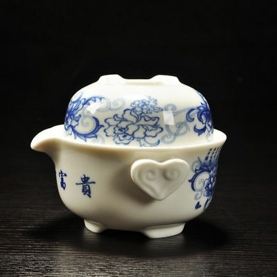 China Blue and white porcelain cup Kung Fu tea sets Travel cups A pot of a cup