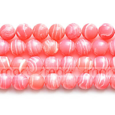 """Synthetic Rhodochrosite Round Loose Beads 15.5"""" Inches Strand 4 6 8 10 12 14mm"""