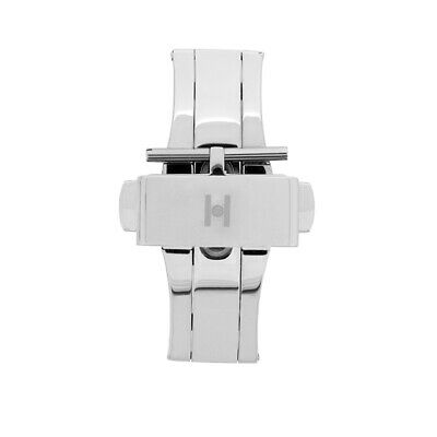 Hirsch PUSHER Upgrade or Replacement Deployment Clasp for Watch Straps in SILVER