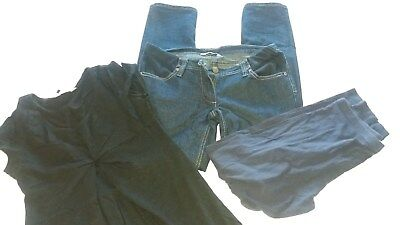 Maternity Clothes Bundle Size 10 Jeans Leggings And Black Top Dorothy Perkins