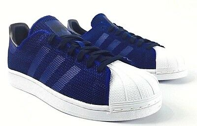 New Mens Adidas Originals Superstar Shoes Mystery Ink By8709 Two Tone Mesh Upper