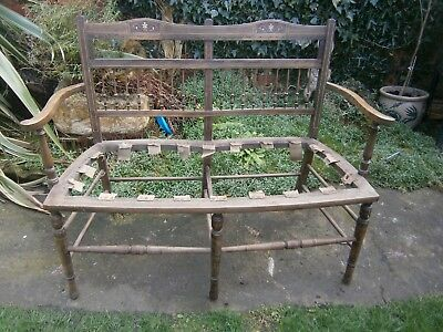 Antique  William Morris Style ,arts And Craft   Double Seat .