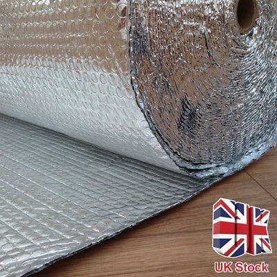 Camper Van insulation, Double Foil Bubble Aluminum Insulation Roll 1.2m x 40m UK