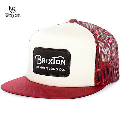fe1c10484c21c ... free shipping brixton grade trucker snapback baseball cap hat red os  nwt new skate surf rt35