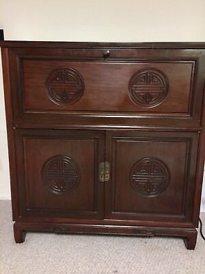 Antique Beautiful Chinese Wood Cabinet Bar