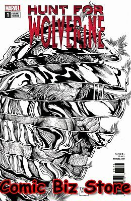 Hunt For Wolverine #1 (2018) 1St Printing Scarce 1:50 Mcniven B&w Variant Cover