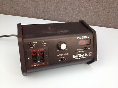 Sigma Chemical Company Power Supply PS 250-2, 250V power supply unit