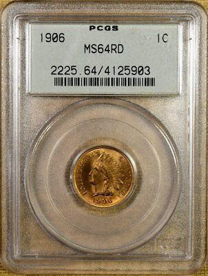 1906 PCGS MS64 RED Indian Cent - Old Green Holder