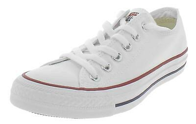 Converse All Star Scarpe Uomo Donna Bianche Basse Tela Ox Optic