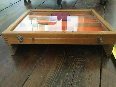vintage Antique Shop cigar Display Case jewellery