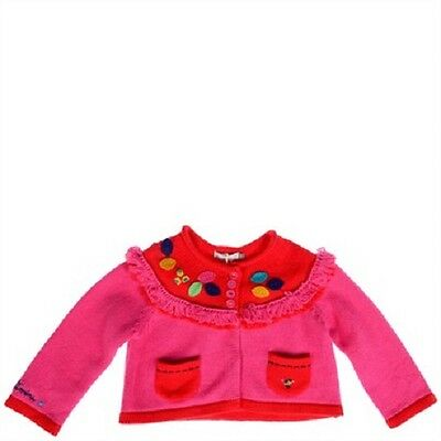 Cute New Baby Girl's Size 000 (3 Months) CATIMINI Applique Cardigan RRP $130