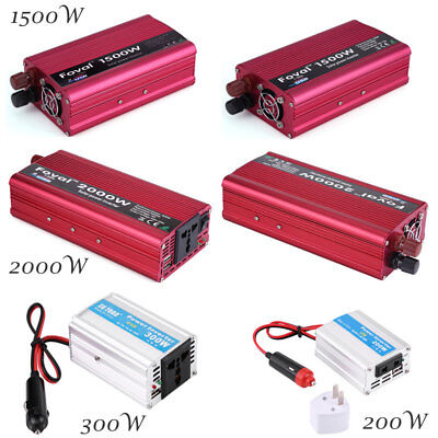 300W/1500W/2000W Power Converter Inverter w/ Cigarette Cable For Car Cam Laptop