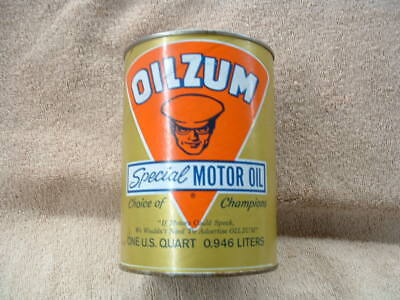 Brand New Antique Vintage Oilzum Motor Oil Cans New Old Stock Unused Full